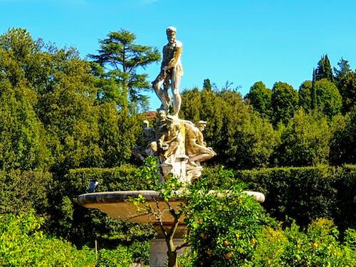 Základová fotografie zdarma na téma boboli zahrady, cestování fotografie, cíl cesty, socha