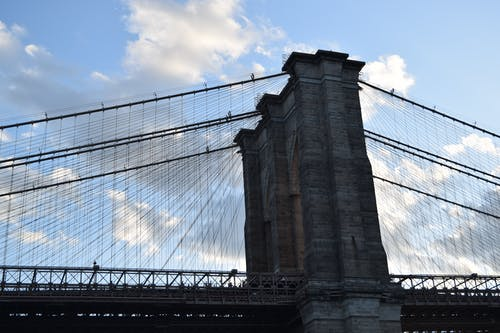 Foto stok gratis bay bridge, brooklyn, jembatan