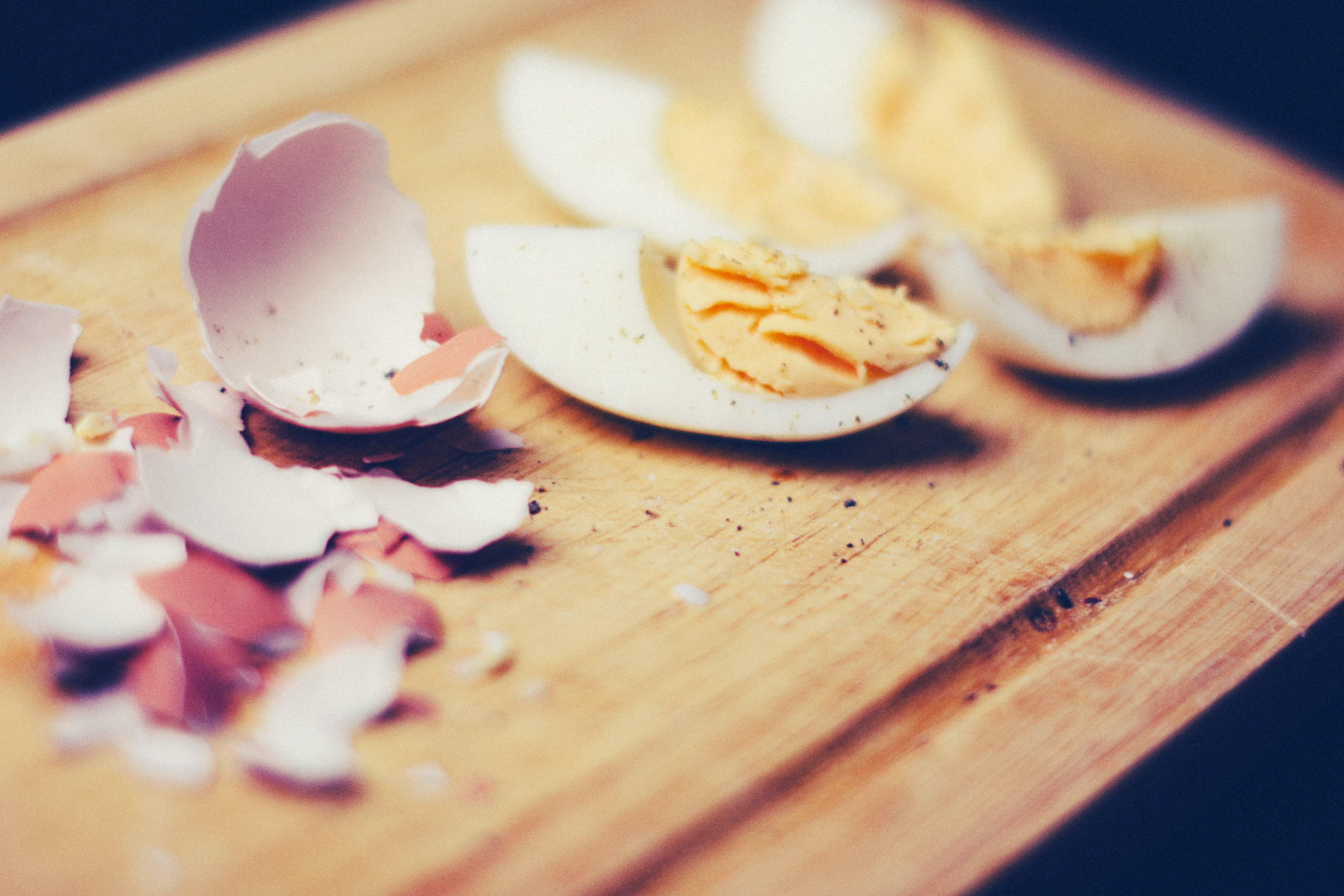 Sliced Egg and Eggshells