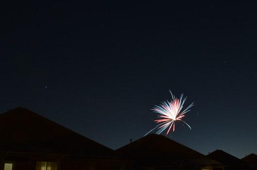 Blue Red Fireworks