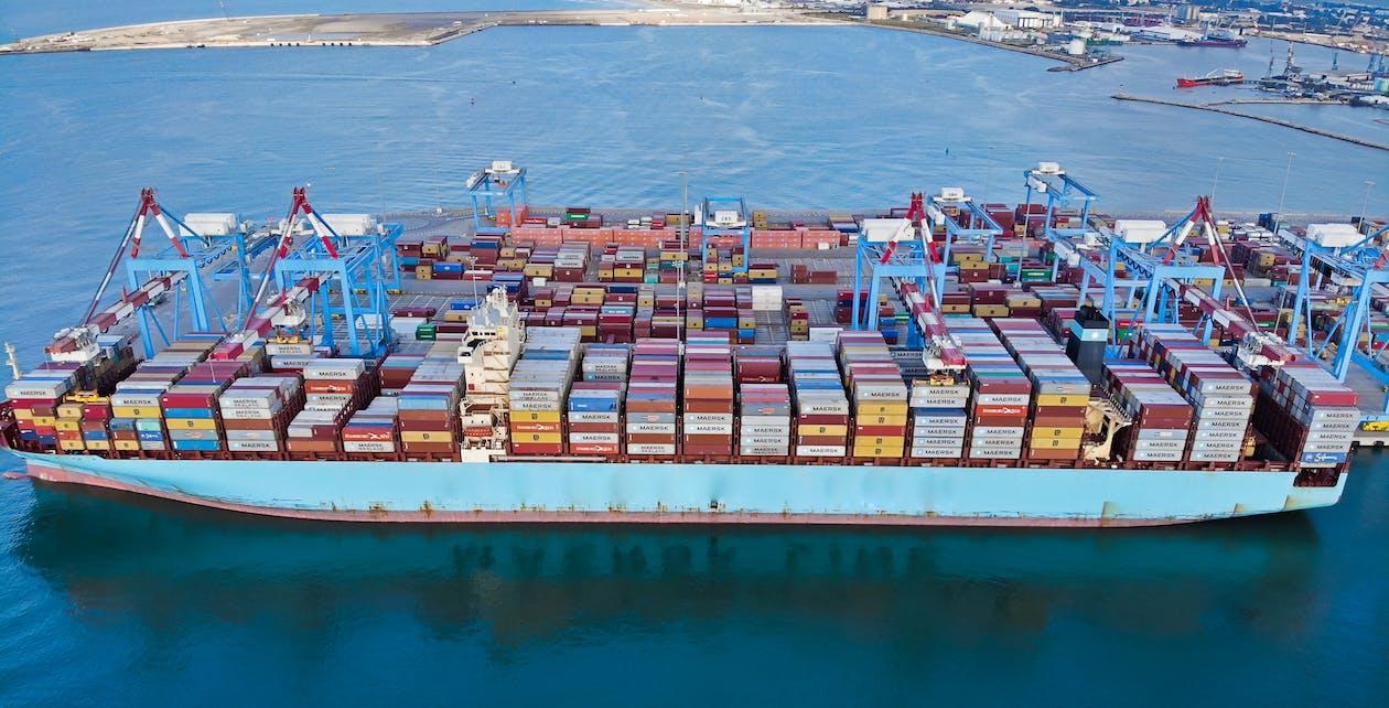 Free stock photo of Baltic Sea, blue sea, cargo ship
