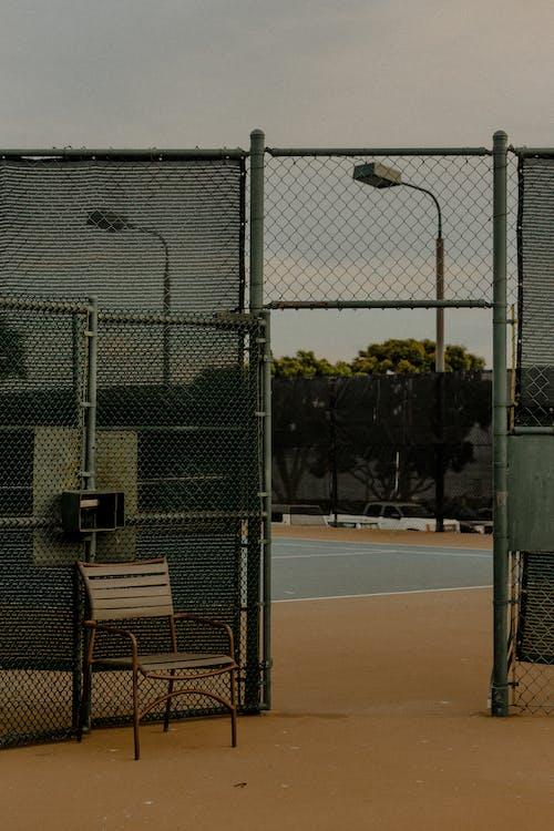 barrière, clôture, court