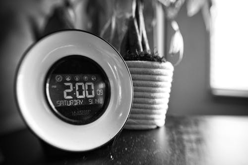Free stock photo of 2, 2pm, black and white, clock