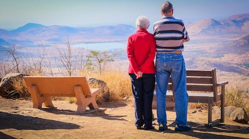 çift, çöl, dedesi, doğa içeren Ücretsiz stok fotoğraf