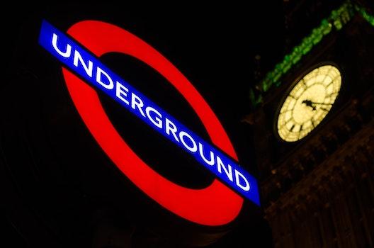 Free stock photo of city, night, dark, public transportation