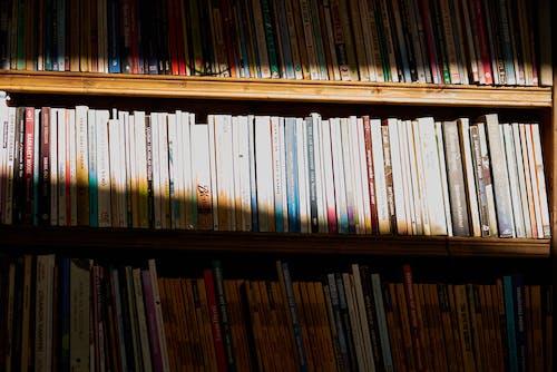 Gratis arkivbilde med bakgrunn, bibliotek, bokbindinger, bøker