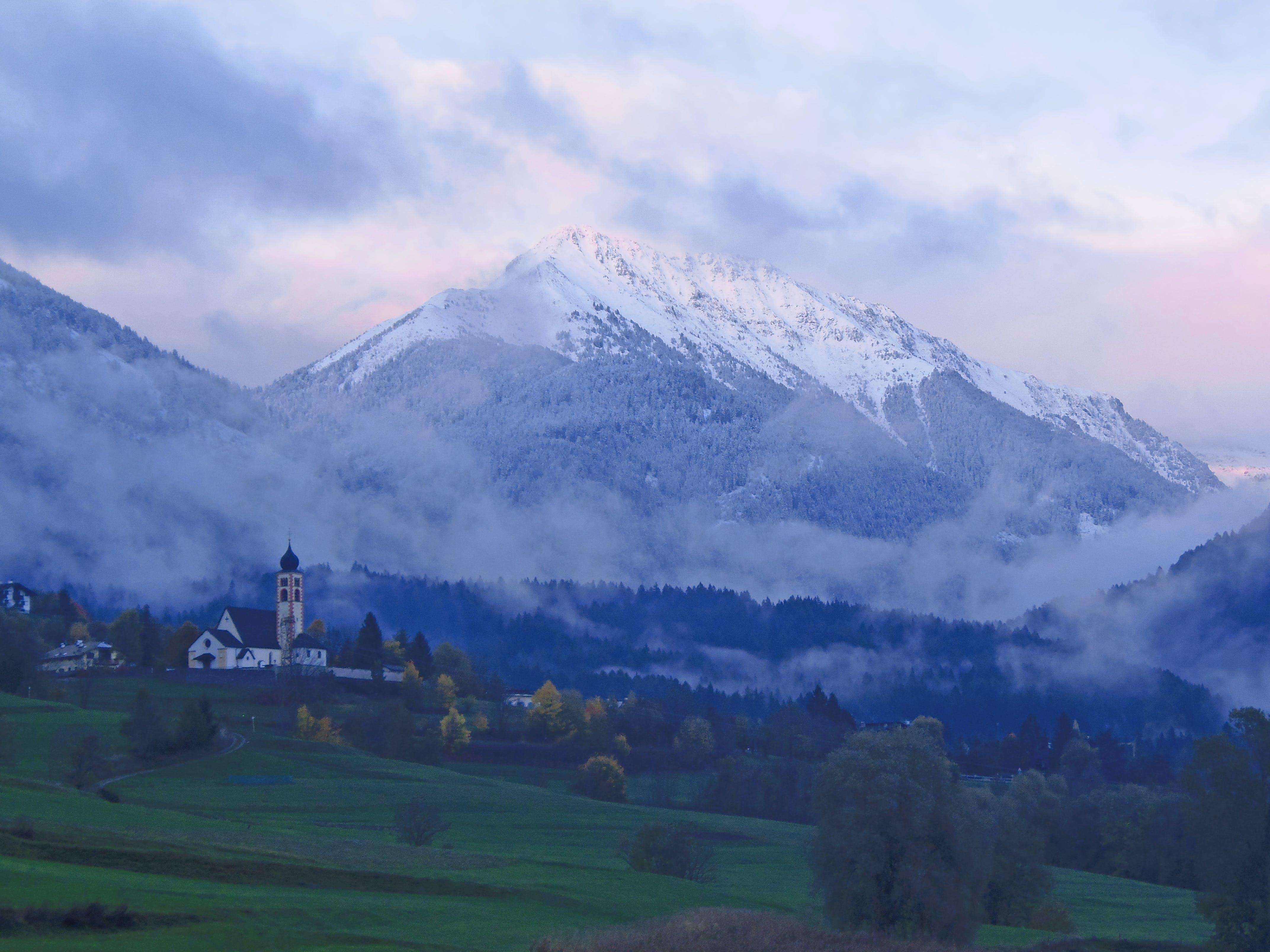 Free stock photo of church, cloud, Daiano, dolomiti
