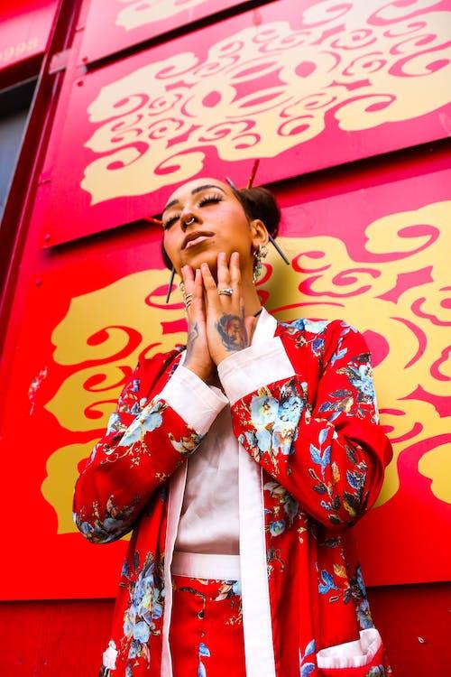 Бесплатное стоковое фото с восточный, дракон, красный, мода