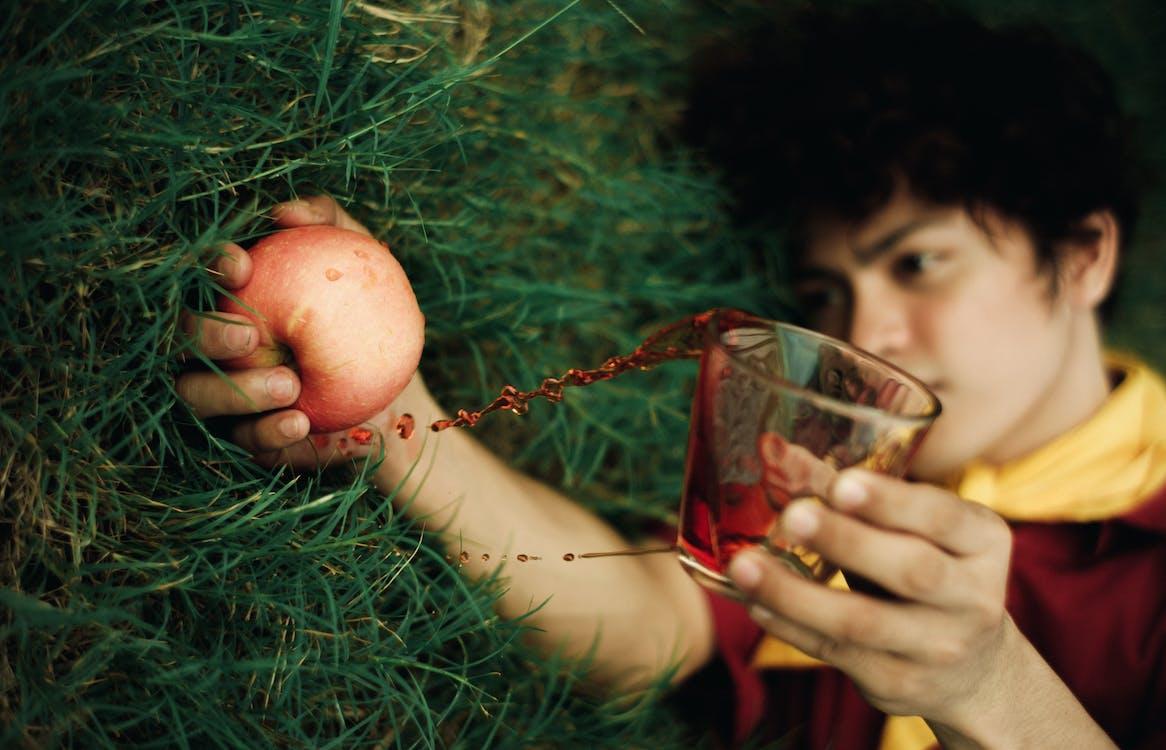 alma, apple, fekvő