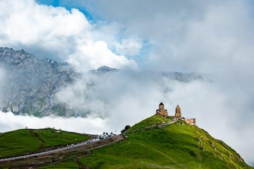 Free stock photo of church, clouds, fog, georgia