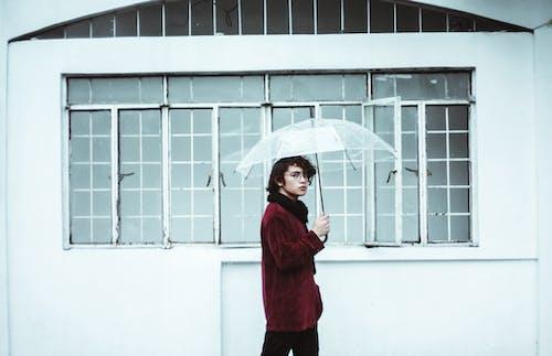 Základová fotografie zdarma na téma chůze, deštník, dívání, držení