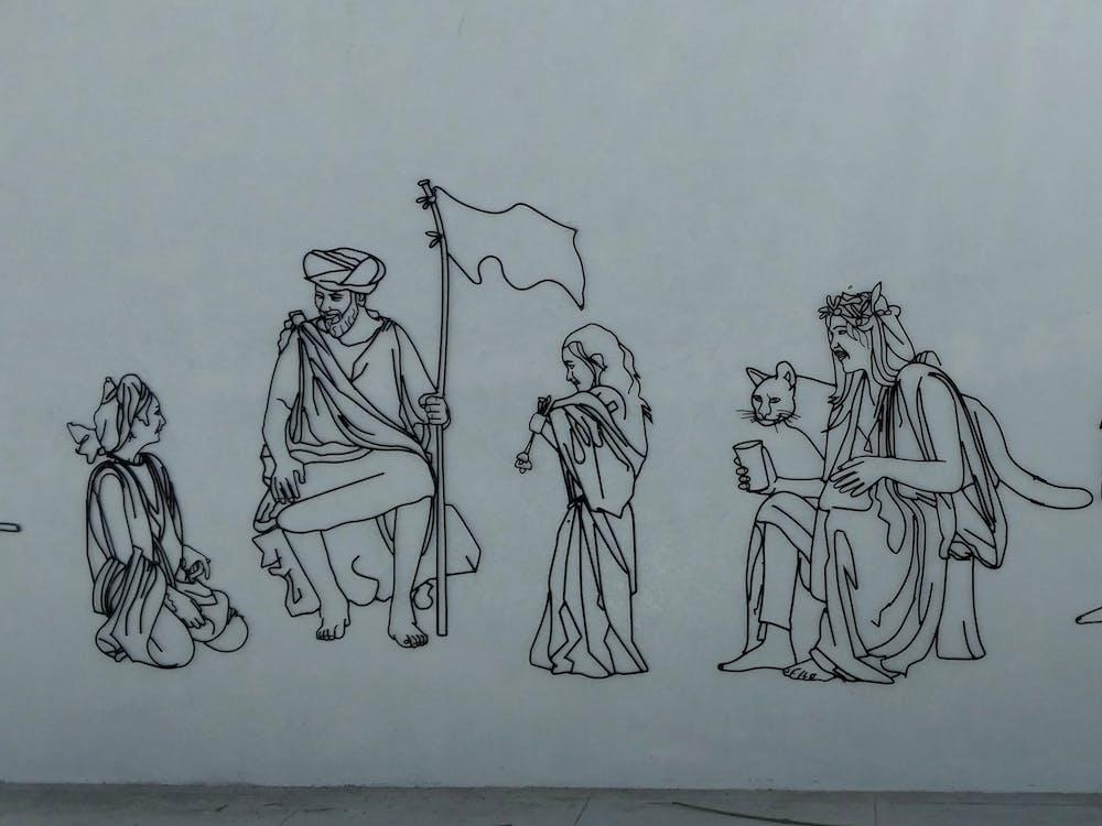 Arte, arte de varilla de hierro, arte indio