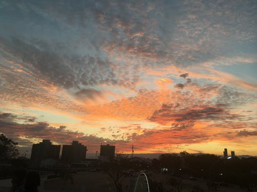 Immagine gratuita di cielo, cielo giallo, nuvole, sole