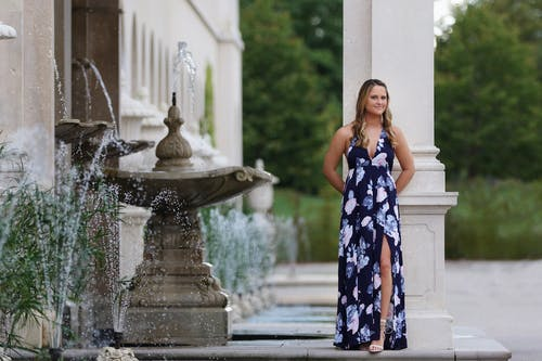 Free stock photo of dress, floral, fountain