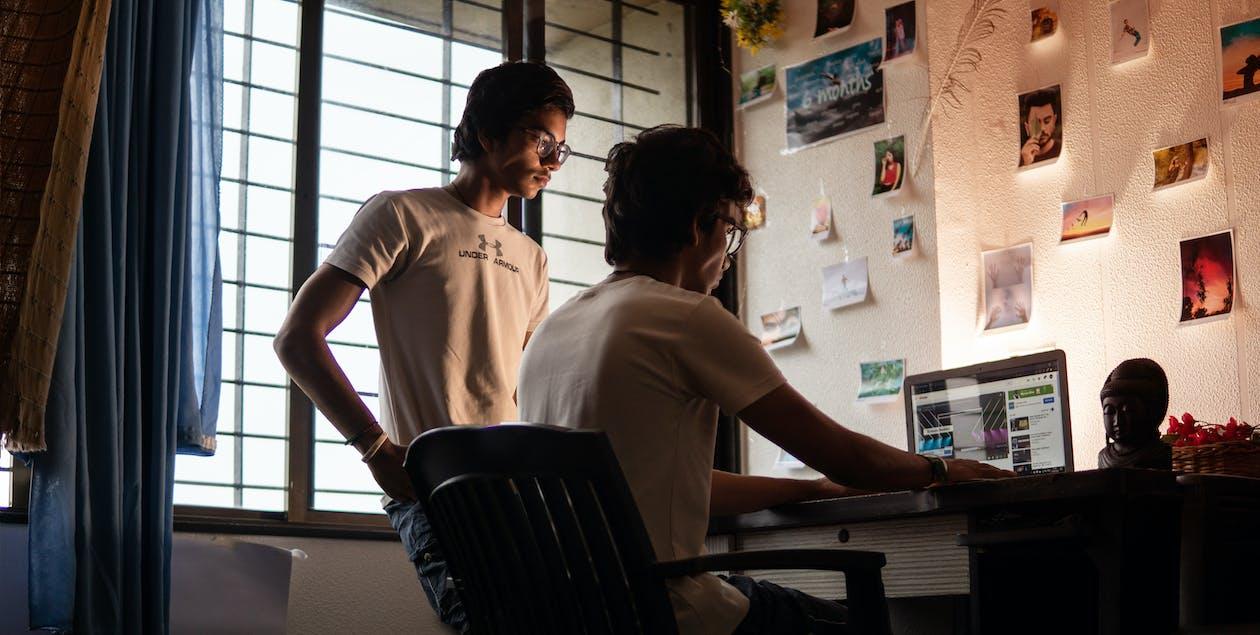 インドア, コンピューター, ノートパソコン