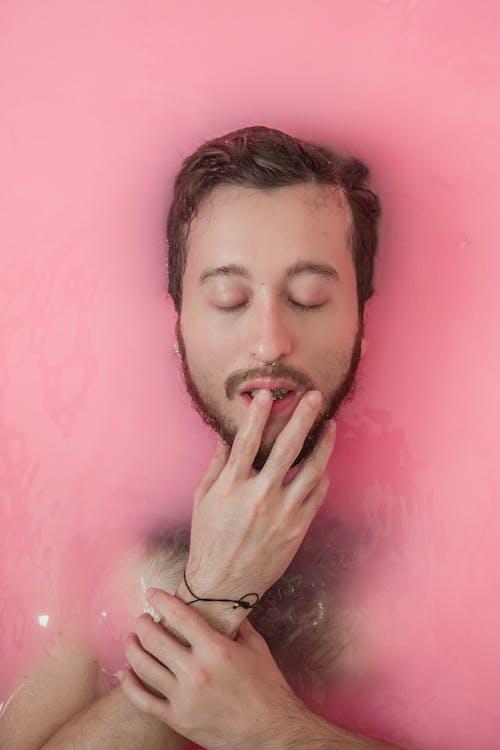 Man in a Pink Liquid