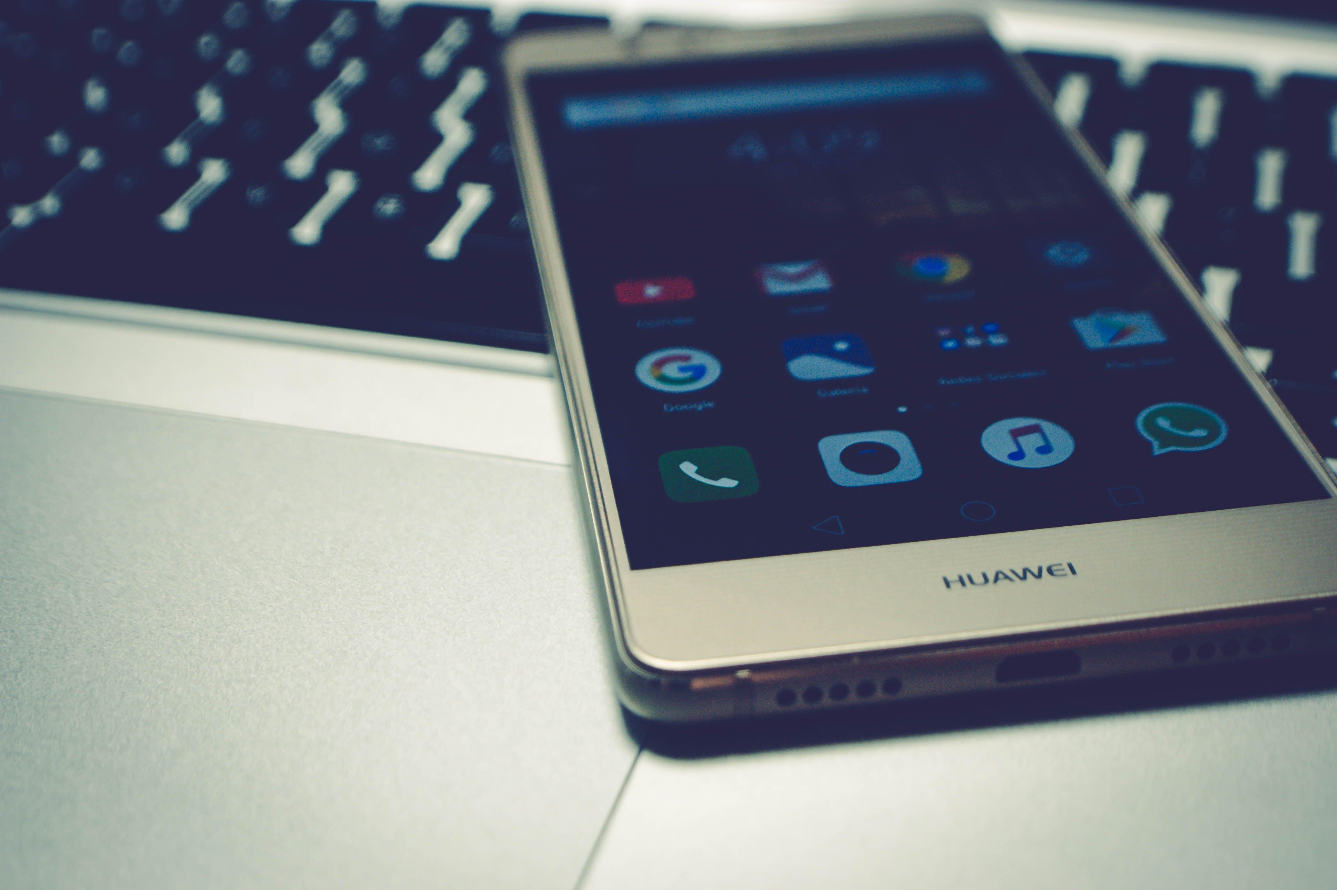 White Huawei Smartphone