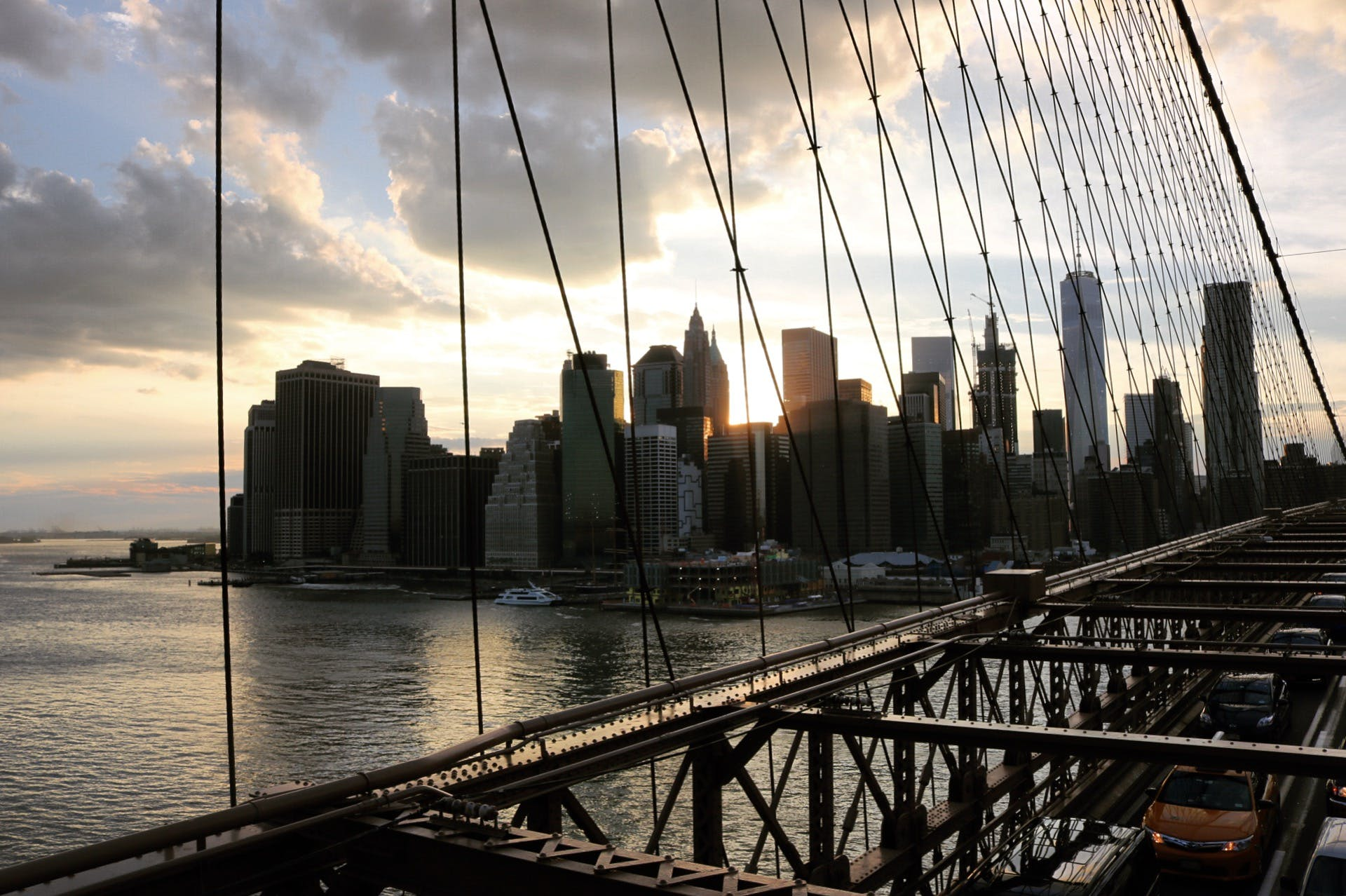 Free stock photo of beauty, brooklyn, brooklyn bridge, clouds