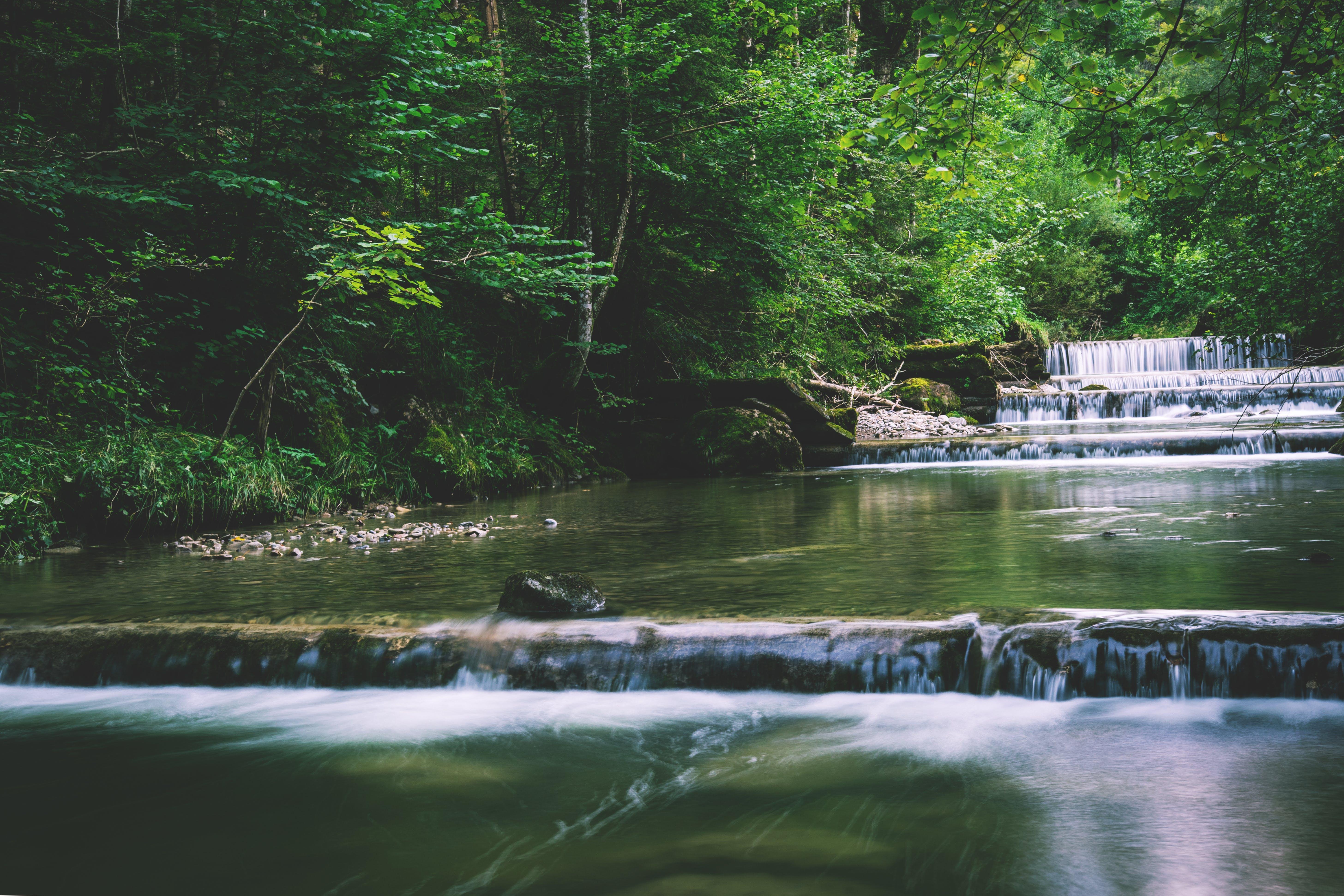 calm, cascade, clean