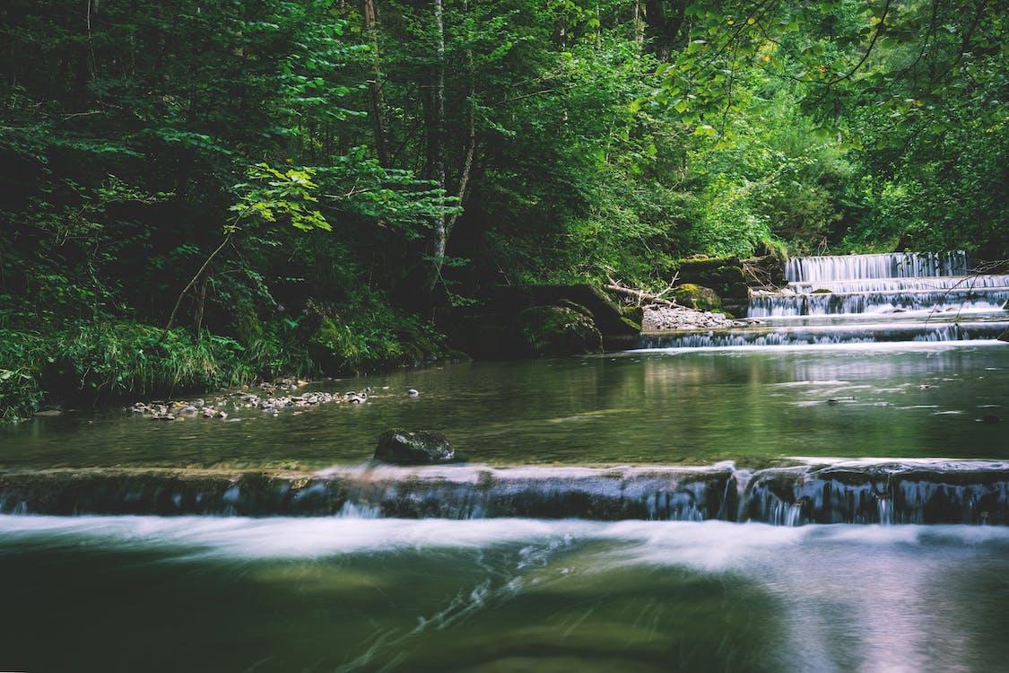 Flowing Multi-tier Waterfalls