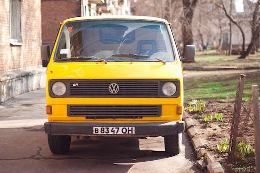 Free stock photo of yellow, car, bus, volkswagen