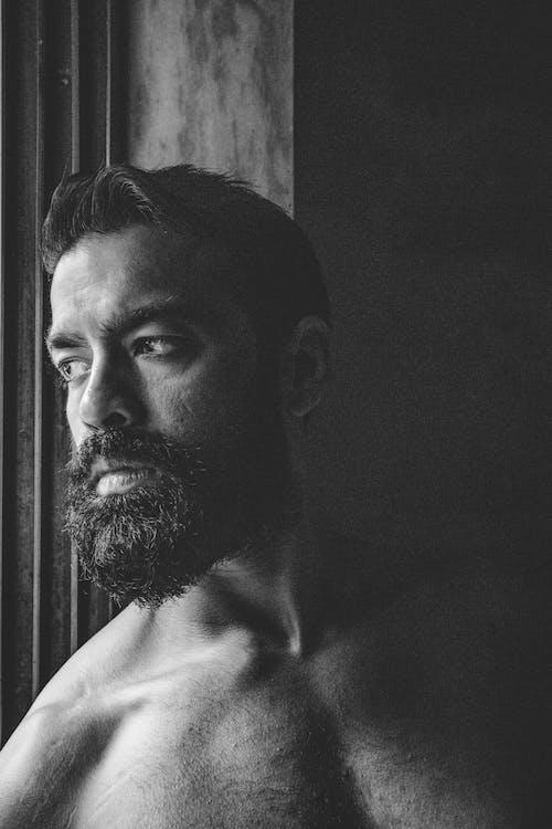 Foto d'estoc gratuïta de barba, barba atofada, bigoti, buscant