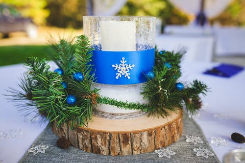 Free stock photo of blue, candle, christmas, christmas decor