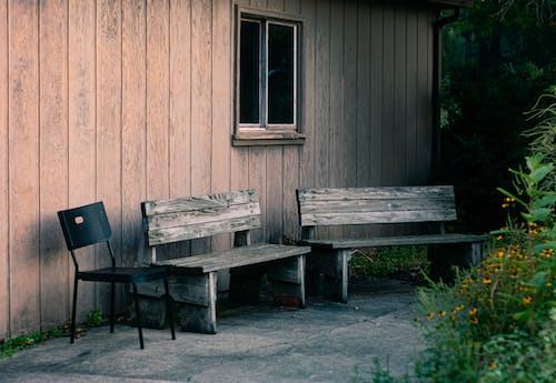 Základová fotografie zdarma na téma dřevěná lavička, dřevěný, lavičky, nábytek