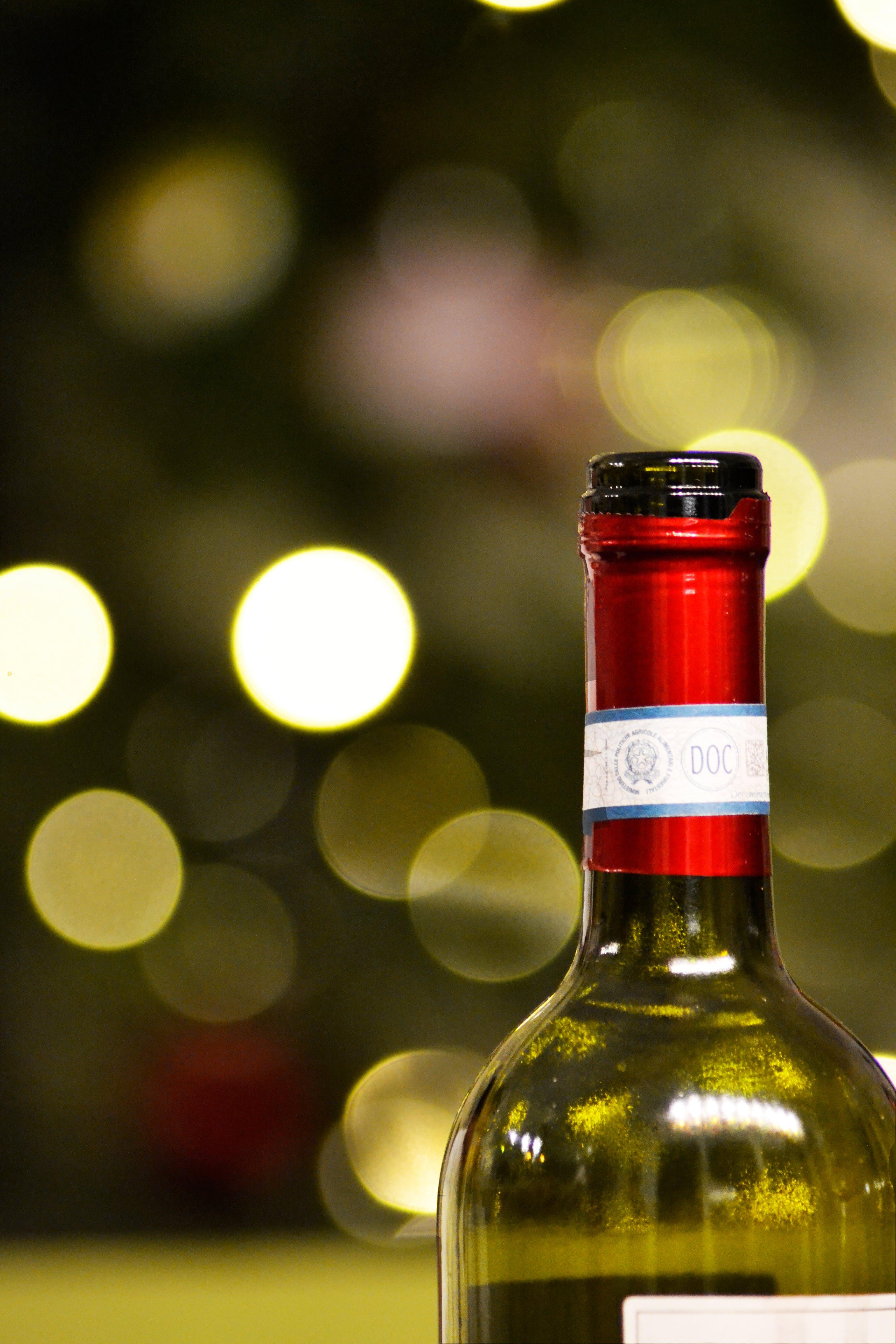 blurred, bokeh, bottle