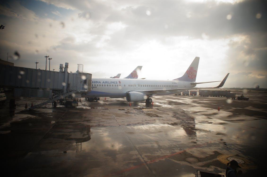 Free stock photo of airplane, airport, rain
