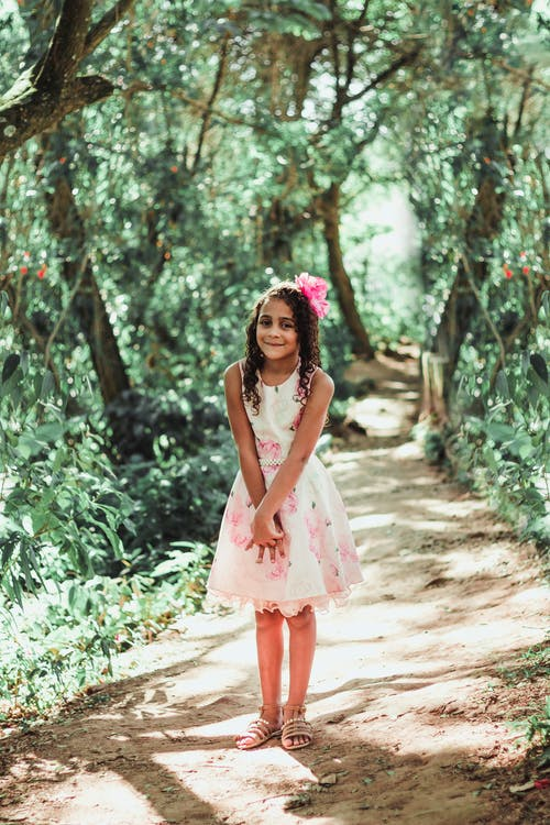 белое платье, девочка, девушка