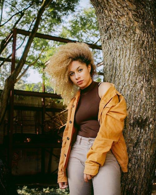 Ilmainen kuvapankkikuva tunnisteilla afro hiukset, asento, asu, henkilö