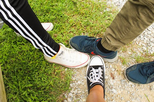 Free stock photo of circle, people, sneakers