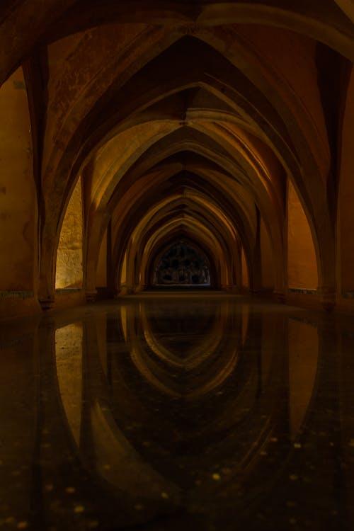 Foto profissional grátis de água, alcazar, andalucia, arcada