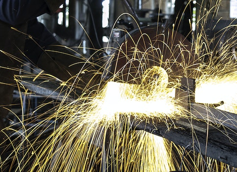 Free stock photo of long-exposure, sparks, welding