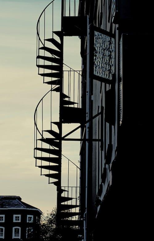 Fotos de stock gratuitas de escalera, escaleras, silueta