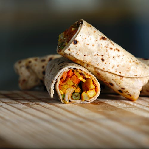 Photos gratuites de aliments, bon vivant, brouiller, burrito