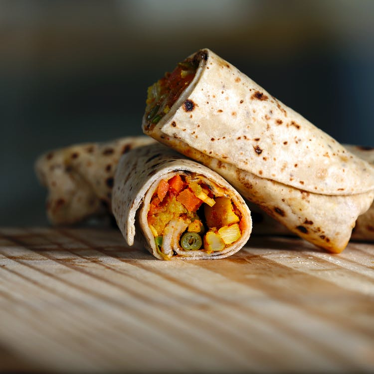 Close-Up Photo Of Burrito