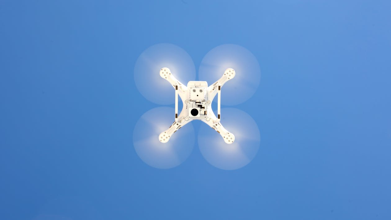 Free stock photo of blue sky, drone, drone cam