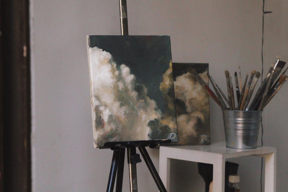 арт-атмосфера, арт-студія, живопис олійними фарбами