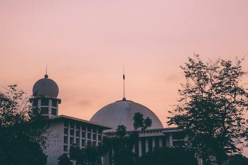 Foto profissional grátis de a grande mesquita, céu da cidade, céu noturno, céu rosa