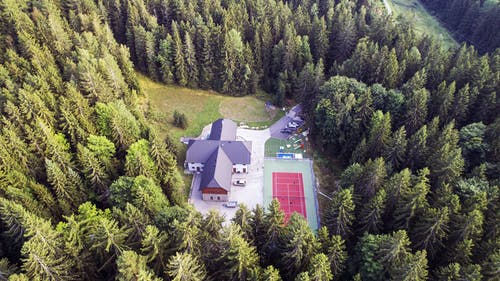 Aerial Photography of a House