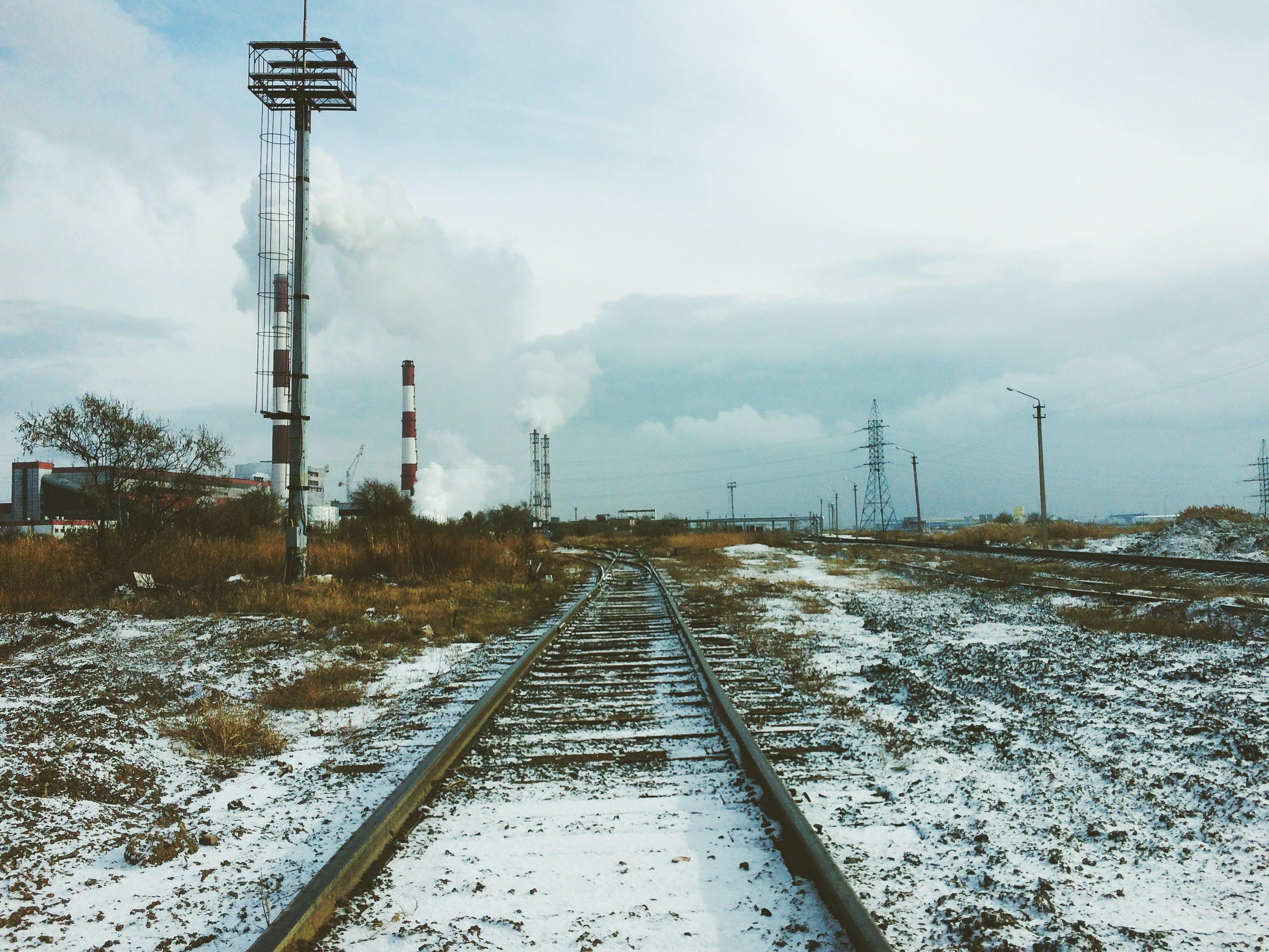 Landscape Photography of Train Rail