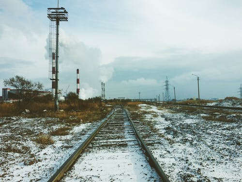 Landscape Photography of Train Rail