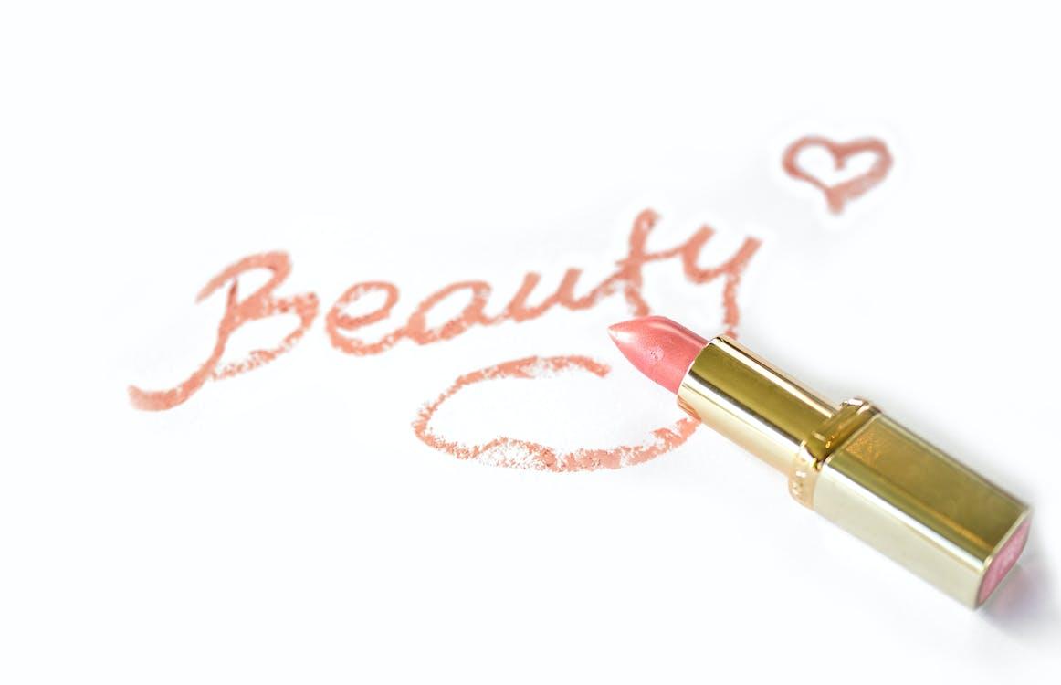 """Beauty"" Written With Pink Lipstick"