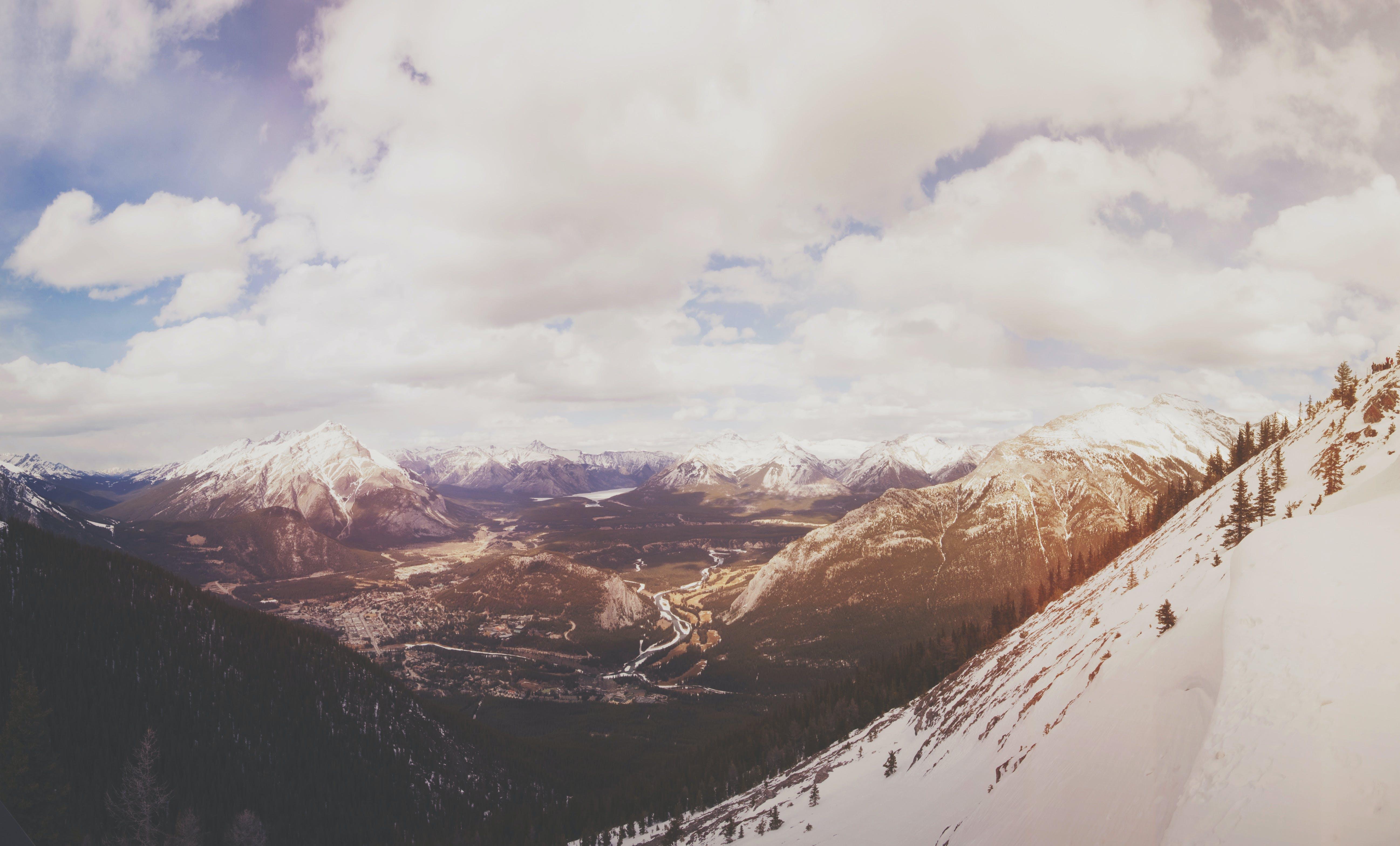 berge, gebirge, himmel