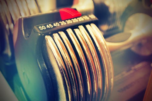 Closeup of a Dumbbell