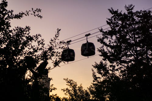 Free stock photo of cable cars, city, garden