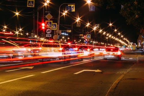 交通, 交通系統, 光, 光跡 的 免费素材照片