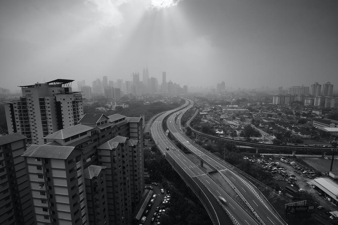 arquitetura, arranha-céu, automóveis